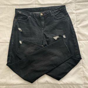 BlankNYC charcoal distress skinny